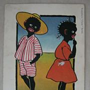 "Early  Valentines ""Coon Series"" Black Americana Negro Postcard"