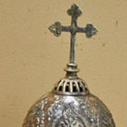 SALE A Superb Old Bronze Monstrance Ostensorium  of Byzantine Design