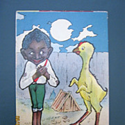 "Black American Postcard "" This am my Affinity for sure"":"