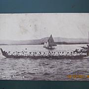 Native War Canoe On Lake Rotorua