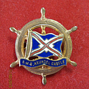 R.M.S. Arundel Castle Souvenir Ships Badge - Union Castle Line