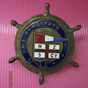 R.M.S. Rangitata Souvenir Badge - New Zealand Shipping Co
