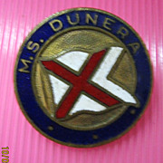 M.S.Dunera Souvenir Badge - British India Line