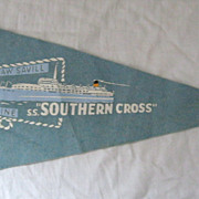 S.S. Southern Cross Felt Souvenir Pennant
