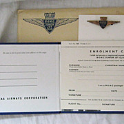 BOAC Junior Jet Club Membership  Pack Including Carded Badge