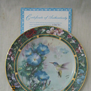 Lena Liu's Humming Bird Treasury By W.L. George Fine China 3rd Issue Plate 1992