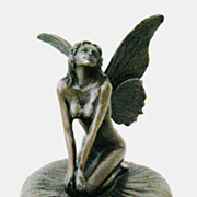 "A Stunning Bronze ""Fairy"" Jewel Case By MILO"