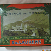 "ED LAURENS ""Prince De Monaco"" 1920's Cigarette Tin"