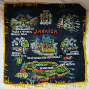 "RETRO 70's ""Jamaica"" Tourist  Souvenir Cushion Cover"