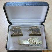 S.S. MONTEREY Boxed Set Souvenir Cuff Links & Tie Pin