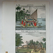 Original Page From The Galleria Universale di Popoli Del  Mondon - Venice 1841