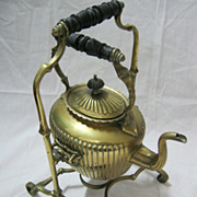 Lovely Old  Decorative Kettle on Stand - Circa 1900