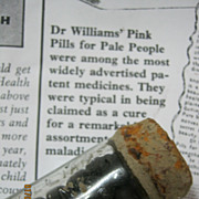 Dr. Williams Pink Pills For Pale People - Original Full Vial - Circa 1900