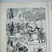 Scenes From The Pantomines - Illustrated London News 1881