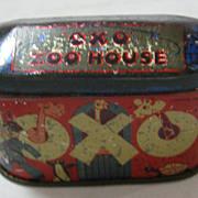 OXO CUBES Zoo House Tin Circa 1930's