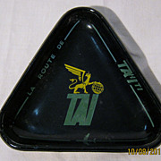 T.A.I Airlines Advertising Ashtray - Circa 1950's