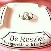 Vintage De Reske Cigarettes Advertising Ashtray