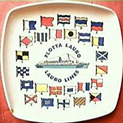 Flotta Lauro Shipping Lines Advertising Ashtray