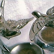"Art Deco Set of  ""Swallows""  Ashtrays"