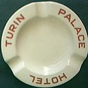 SOLD Palace Hotel Turin Advertising Ashtray