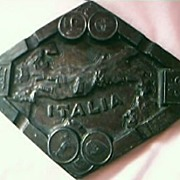 Old Italian  Metal Souvenir Ashtray