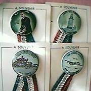 1949 Royal Visit  to NZ Set of Four Badges