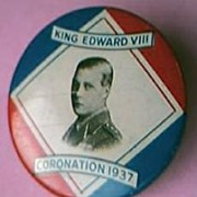 RARE 1937 King Edward V111 Coronation Badge