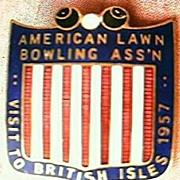 American Lawn Bowls 1957 British Isles Tour Badge