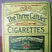 "Antique Cigarette Packet ""The Three Cattles"""