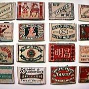 1930's Match Box Label Lids