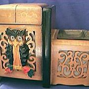 SALE Musical Cigarette Box Circa 1920's
