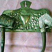 Victorian Art Nouveau Brass Pipe Rack