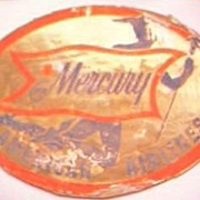 Vintage Mercury American Airlines Advertising Baggage Sticker