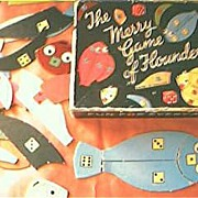 "Vintage Child's Game ""The Merry Game Of Floundering"" Circa 1950's"