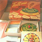 "Vintage Quiz Game ""Tell Me"" Circa 1950's"