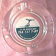 Vintage TAA Airlines Advertising Ashtray