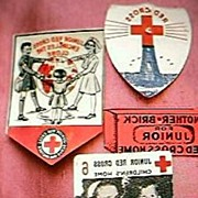 1950's Celluloid Red Cross Badges