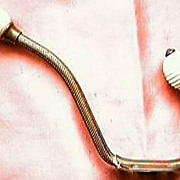 Three Victorian Era Brass and Porcelain Coat Hooks