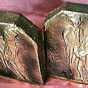 Arts & Crafts Period Brass on Wood Bookends