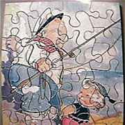 Vintage Children's Wooden Jig Saw Puzzle Circa 1930's-40's