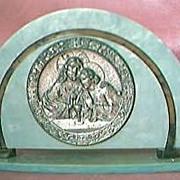 Vintage Religious Art Deco Ornament Circa 1920's-30's