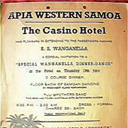 S.S. Wanganella Dinner Dance at The Casino Hotel, Apia, Circa 1950's.