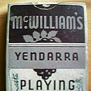 """Vintage Wine Company Advertising Playing Cards"""" McWilliams Yendarra Sherry"""""""