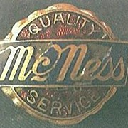 """Vintage Buttonhole Advertising Badge  """"McNess Service"""""""