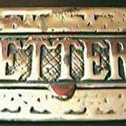 Large Vintage Cast Brass Letter Slot