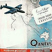 "WW11 Vintage Qantas Empire Airways ""Indian Ocean Crossing"" Pamphlet"