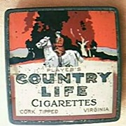 """Vintage Australian """"Players Country Life"""" Cigarette Tin"""