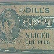 Vintage DILLS BEST Sliced Cut Plug Tobacco Tin