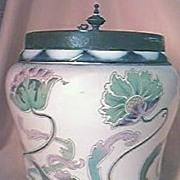"Beautiful Victorian  Period ""Carltonware"" Biscuit Barrel."