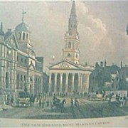 "Vintage Engraving ""The New Opening To St. Martins Church"" Circa Mid 1800's"